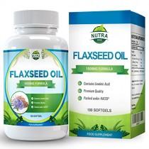 Aceite de Linaza 100mg. La mejor fuente de Omega 3 6 9 para hombres y mujeres