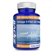 Aceite de pescado Omega 3 1000mg | 360 cápsulas blandas