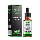 Gotas de aceite de cáñamo a base de hierbas y éticas 10% 1000MG 10 ml de alta resistencia