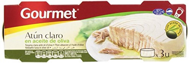 Gourmet Atún Claro en Aceite de Oliva – Pack de 3 x 52 g