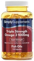 Omega 3 1000mg Triple Acción – 120 cápsulas