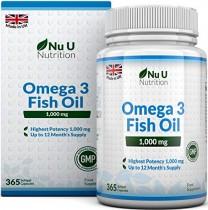 Omega 3 | Aceite de Pescado | 1000 mg | 365 Cápsulas