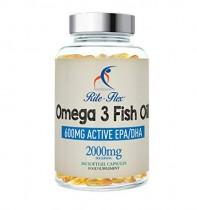 Omega 3 Aceite de Pescado 2000 mg 365 Soft Gel cápsula de Rite Flex EPA