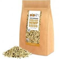 Pipkin Semillas Peladas de Cáñamo 100% Orgánicas, No-GMO, Peladas, 500g