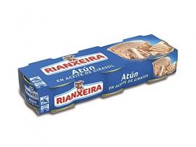 Rianxeira, Conserva de atún en aceite de girasol – 18 latas de 80 gr