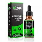 VITAL gotas de extracto de aceite de cáñamo 1000 mg 10% de alta resistencia